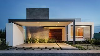 Casa moderna de un piso y tres dormitorios