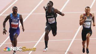 Justin Gatlin wins 100m heat to kick off world championship defense | NBC Sports