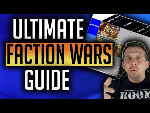 RAID | THE ULTIMATE FACTION WAR GUIDE! ITS ALL ABOUT THE TEAM! NEW SUPPORT REFERENCE SHEET!