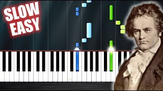 Beethoven - 5th Symphony - SLOW EASY Piano Tutorial by PlutaX