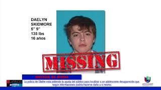 Las autoridades de Olathe buscan a un adolescente perdido con peligro de dañarse a si mismo.