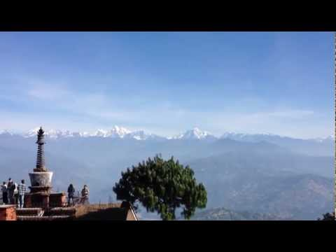 Himalayan Range from Nagarkot, Nepal
