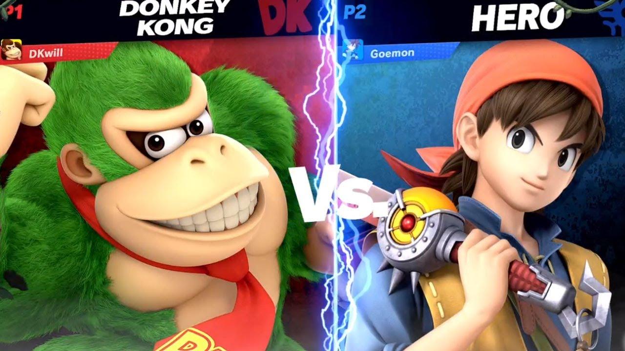 DKwill - DK Matchup Lesson with Goemon (DK vs Hero)