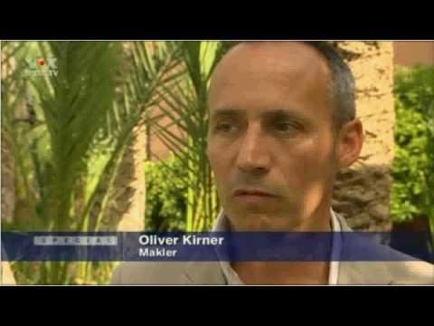 """2/2010: Deutsches TV über """"Immobilier à Marrakech"""", pt 2: """"Villa des 1000 Palmiers"""", Palmeraie"""