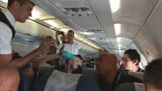 Jović, Bobi i Štimac žurka u avionu uz Cecu #EuroBasket2017