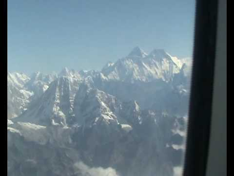 A view on the Mount Everest from Buddha Air – Clear Sky