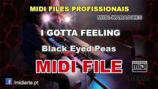♬ Midi file  - I GOTTA FEELING - Black Eyed Peas