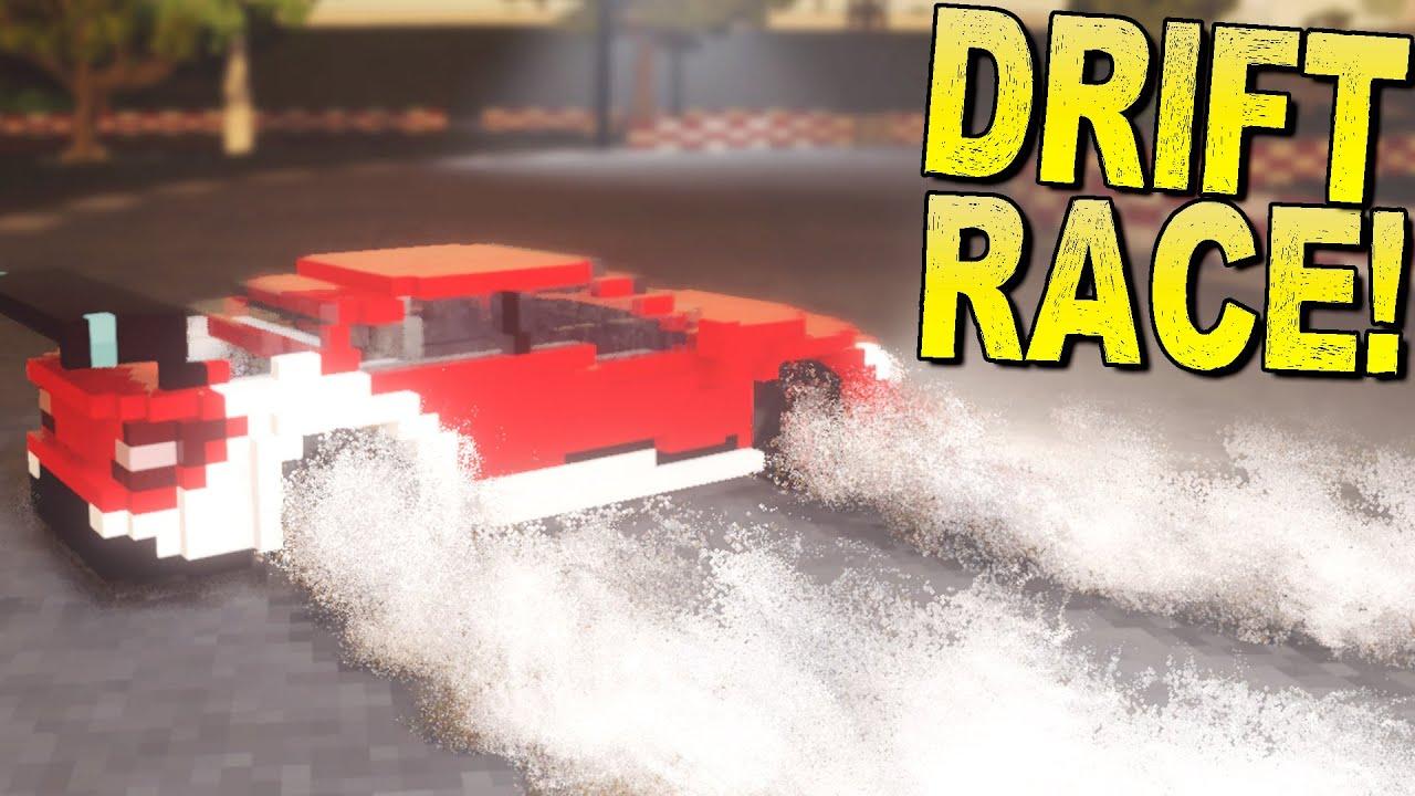 ScrapMan - Precision Drift Race! Destroying a Race Track to Drift Better. - Teardown Gameplay