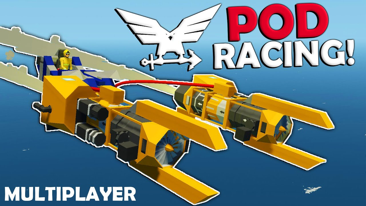 Frantic - Flying Pod Racers!  -  Stormworks Multiplayer Gameplay