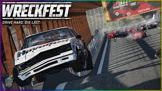 BRIDGE TO NOWHERE! | Wreckfest | NASCAR Legends Mod