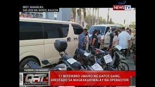 QRT: 11 miyembro umano ng Gapos Gang, arestado sa magkakahiwalay na operasyon
