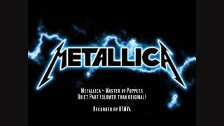 Metallica - Master of Puppets - Cover (slower than original)