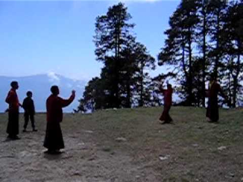 Tibetian Monks Playing Volleyball