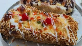 Mini curso de pão trança doce confeitado