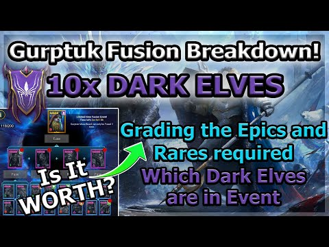 RAID Shadow Legends | FUSION BREAKDOWN WHOA! IS IT WORTH? | +10X DARK ELVES TOMORROW!
