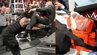 Roman Reigns destroys Triple H after Match    Roman Reigns vs Sheamus & Triple h