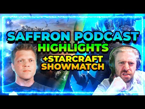 RAID Shadow Legends | Saffron Podcast Highlights & Starcraft Showmatch!