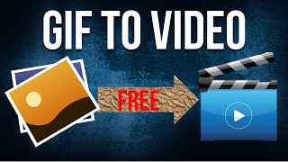 How to convert.GIF into video formats like MP4 MOV AVI WMV (FREE) (No Software needed)