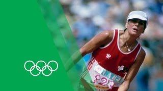 An Unforgettable Marathon Finish - Gabriela Andersen-Schiess | Olympic Rewind