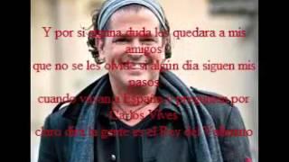 El hijo del vallenato Carlos Vives-Karaoke Colombiano-letra