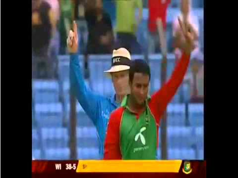 Bangladesh Vs. West Indies 3rd ODI 2011 West Indies Wickets.mp4