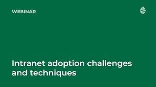 Webinar   Understanding intranet adoption challenges and techniques Logo