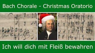Bach's own score - Ich will dich mit Fleiss bewahren (chorale)