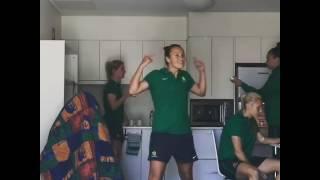 Matildas doing the #RunningManChallenge