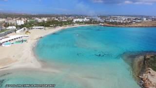NISSI BEACH CYPRUS PARADISE BLUE LAGOON WINTER 2017