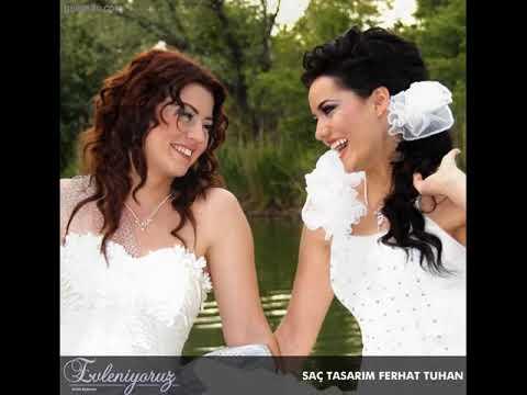 Gökçe Bahadır Fahriye Evcen Gelin Saç Modelleri Wedding hairstyles