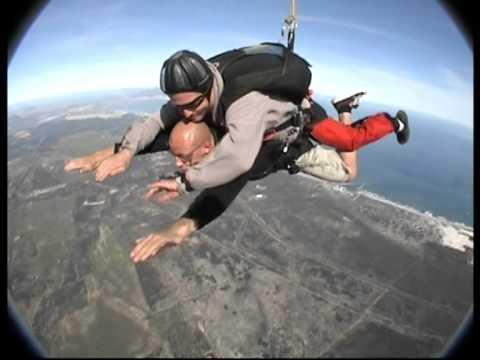 """Zuid-Afrika Kaapstad tafelberg van bovenaf ik skydiven"""