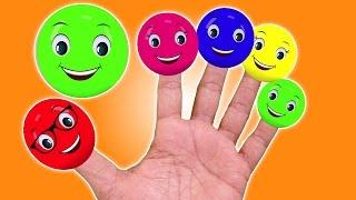 Cores Dedo Família Canção | Cartoon para crianças | Popular berçário rima | Colors Finger Family