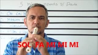 FLAUTA DOCE - 5 MÚSICAS INFANTIS - FÁCEIS