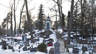 Le cimetière Sainte Euphrosyne de Vilnius...