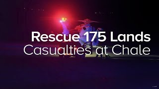 Coastguard Rescue 175 helicopter lands casualties at Chale - Island Echo