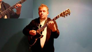How to Play Guitar in modern jazz style using Wayne Shorters Footprints - GRP GUITAR LESSONS