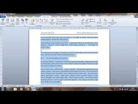 Word 2010 Görsel Eğitim 7 Belgeye Açıklama Eklemek ve Yazım Dil Bilgisini Kullanmak.mp4