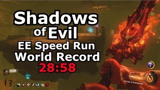 Shadows Of Evil Easter Egg SpeedRun World Record 28:58 Black Ops 3 PS4