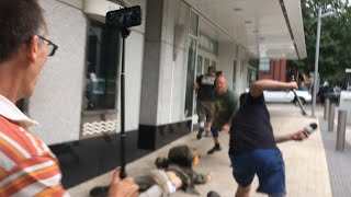 Portland: Huge Fight Breaks Out, Antifa vs Camera Crew
