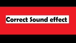Correct sound || Sound Effect