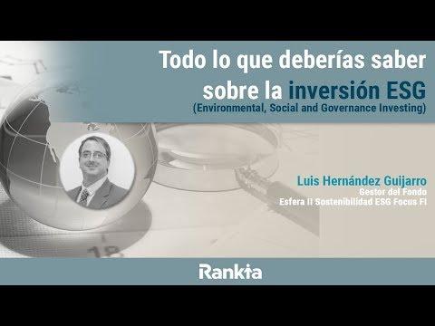 ¿Qué es la inversión con criterios ESG? ¿Cómo se lleva a cabo? ¿Qué ventajas e inconvenientes tiene? Luis Hernández, gestor de Fondo Esfera ll Sostenibilidad ESG Focus y experto en la materia, nos responderá a estas preguntas y muchas otras más sobre la inversión ESG.