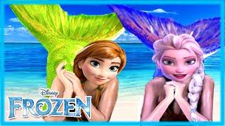 Frozen Mermaids Disney Princesses Elsa And Anna Dress Up Game For S Makeup