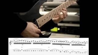 Joe Satriani - Time (Improvised solo w/ Tabs On Screen)