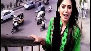 Pakistani girl News Reporter Funny reporting In Bakra Mandi