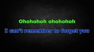 Shakira ft. Rihanna - Can't Remember To Forget You (Karaoke/Instrumental) with lyrics