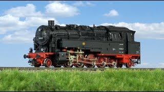TRAINMANIA - Zkušební jízda parní lokomotivy BR 95 DR od firmy Arnold (TT)