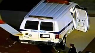 Micheal Jackson body goes in the Coroner's van