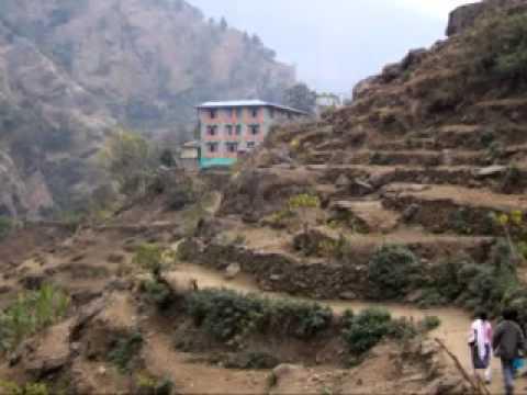Trekking trails of Nepal's Annapurna circuit.