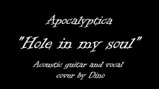 Apocalyptica - Hole in my soul - Acoustic guitar and vocal cover by Dino