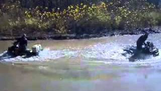 Brute and can am doin a little skimming